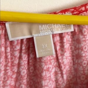"MICHAEL Michael Kors Tops - Michael Kors coral 3/4"" sleeve top"